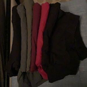 Six pairs of torrid leggings